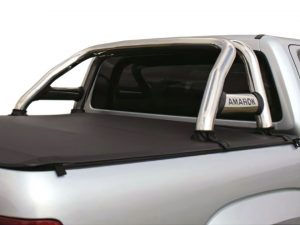 VW Amarok 2017+ Stainless Steel Sportsbar with Extended Oval Side Tubes