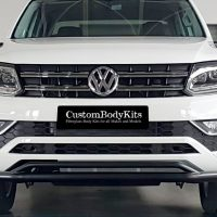 VW Amarok 2017 - 2020+ Front Styling Bar 409 Stainless Steel Powder Coated Black