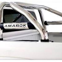 VW Amarok 2010 - 2020+ Rollbar (Sports Bar) with Oval Cross Members Stainless Steel