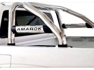 VW Amarok 2010 - 2020+ Rollbar (Sports Bar) with Oval Cross Members Stainless Steel