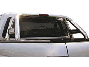 VW Amarok 2017+ Stainless Steel Sportsbar with Shorter Oval Side Tubes & LED Brake Light