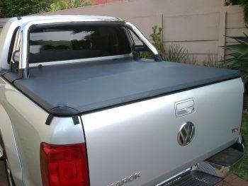 VW Amarok 2010 - 2020+ Double Cab Clip On Tonneau Cover (For Rollbars)