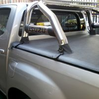 Isuzu 2013 - 2020+ Double Cab Clip On Tonneau Cover for rollbar