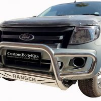 Ford Ranger 2012 - 2015 Nudge Bar - Wrap Around Stainless Steel