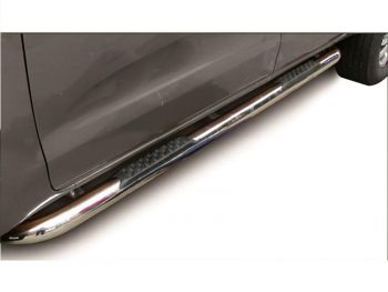 Ford Ranger 2012 - 2020+ Double Cab 76mm Round Tube Side Steps Stainless Steel