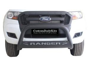 Ford Ranger 2016+ Fleet Range Nudge Bar 409 Stainless Steel PC Black