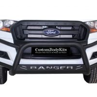 Ford Ranger 2016+ Fleet RangeTri Bumper 409 Stainless Steel PC Black