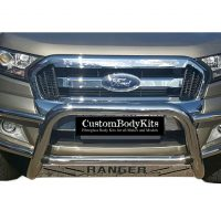 Ford Ranger 2016+ Nudge Bar - Wrap Around Stainless Steel