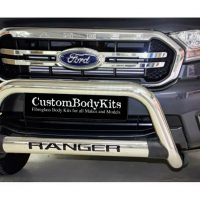 Ford Ranger 2016 - 2020+ Nudge Bars Oval Cross Member Stainless Steel