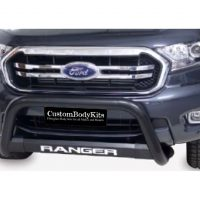 Ford Ranger 2016 - 2020+ Nudge Bar TILT Range 409 Stainless Steel PC Black