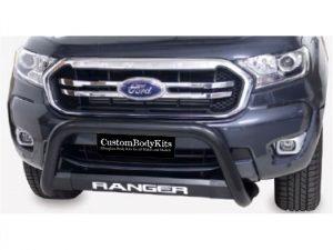 Ford Ranger 2016 - 2020+ Nudge Bar TILT Range 409 Stainless Steel PC Black