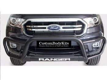 Ford Ranger 2016 - 2020+ Tri Bumper 409 Stainless Steel PC Black