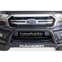 Ford Ranger 2012 - 2015 Tri Bumper 409 Stainless Steel PC Black