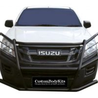Isuzu 2016 - 2020+ Bullbar - Full Face Wrap Around (Mild Steel) Black