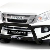 Isuzu RT85 2016 - 2020+ Tri Bumber 409 Stainless Steel Powder Coated Black