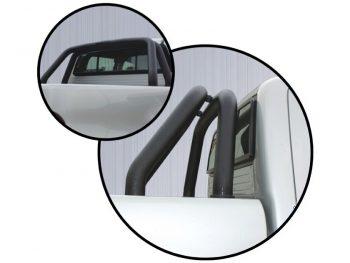 Isuzu 2016 - 2020+ Double Cab & Extended Cab Rollbar Black Coated