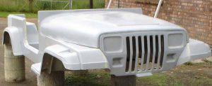 Fibreglass Jeep Wrangler Body