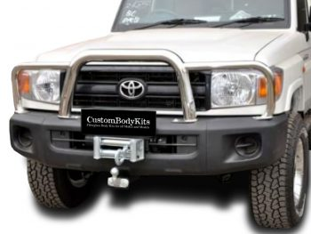 Toyota Landcruiser 70 2010 - 2020+ Series Grill Guard Stainless Steel