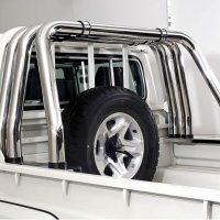 Toyota Landcruiser 70 Series 2004 - 2019 Triple Styling Bar Stainless Steel