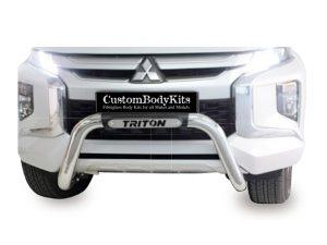 Mitsubishi Triton L200 Facelift 2019+ Low Nudge Bar Stainless Steel