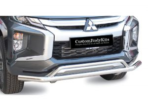 Mitsubishi Triton L200 Facelift 2019+ Front Styling Bar Stainless Steel
