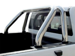 Toyota Hilux 2005 - 2015 Polished Stainless Steel Top Mount Sports Bar PLAIN (Fits All)