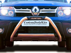 Renault Duster 2015 - 2018 Polished Stainless Steel Nudge Bar