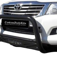 Toyota Hilux 2005 - 2015 Nudge Bar Black Coated with Sump Guard