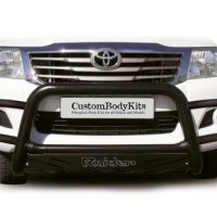 Toyota Hilux 2005 - 2015 Wrap Around Nudge Bar Black (Mild Steel)