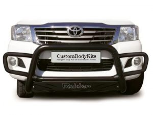 Toyota Hilux 2005 - 2015 Wrap Around Nudge Bar Black (Mild Steel)