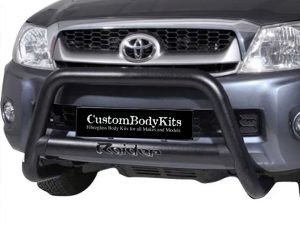 Toyota Hilux 2006 - 2015 Nudge Bar with Oval Cross Member 406 SS PC Black