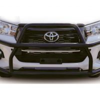 Toyota Hilux 2016 - 2020 Black Coated Nudge Bar High Wrap Around