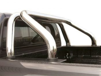 Toyota Hilux 2016 - 2020+ Polished Stainless Steel Top Mount Sports Bar Double Cab