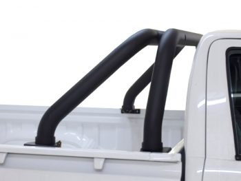 Toyota Hilux 2016 - 2020+ DC & EC Rollbar (Sports Bar) Fleet Range 409 Stainless Steel Powder Coated Black