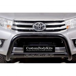 Toyota Hilux 2016 - 2020+ Nudge Bar with Oval Cross Member 409 Stainless Steel Powder Coated Black