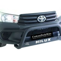 Toyota Hilux+ Fleet Range Tri Bumper 409 Stainless Steel PC Black