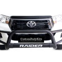 Toyota Hilux 2016 - 2020+ Tri Bumper with Oval Cross Member 409 Stainless Steel Powder Coated Black