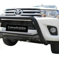 Toyota Hilux 2016 - 2020+ Nudge Bar Black Coated Stainless Steel