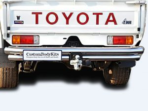 Toyota Landcruiser 70 Series 2007 - 2020+ Rear Step Stainless & Towbar
