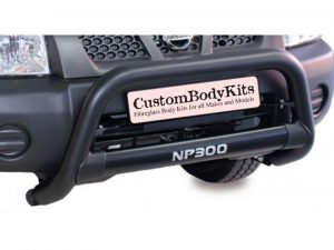 Nissan NP300 2009+ Nudge Bar 409 Stainless Steel Powder Coated Black