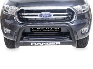 Ford Ranger 2016 - 2021+ Nudge Bar 409 Stainless Steel PC Black
