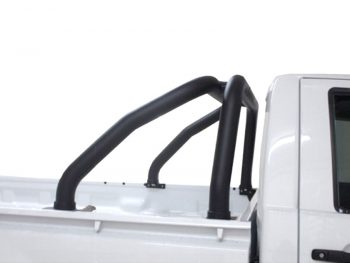 Isuzu KB 2013 - 2021+ Double & Extended Cab Sports Bar (Rollbar) 409 Stainless Steel PC Black