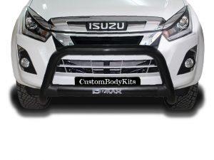 Isuzu RT85 2013 - 2021+ Nudge Bar 409 Stainless Steel Powder Coated Black