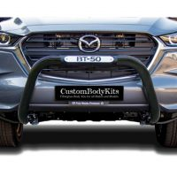 Mazda BT50 Facelift 2021+ Nudge Bar 409 Stainless Steel Powder Coated Black